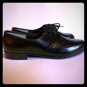 ❄️Fayva Boys Black Leather Dress Shoes 2